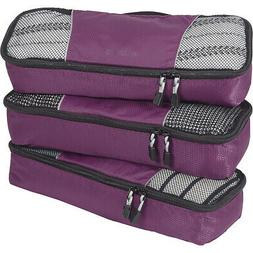 eBags Slim Classic Packing Cubes - 3pc Set 14 Colors Travel