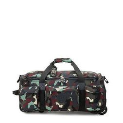 Kipling Small Carry-On Rolling Luggage Duffel Camo L