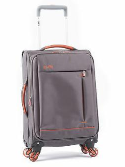 Soft Sided Carry On Luggage Rolling Wheels Travel Bag Summit