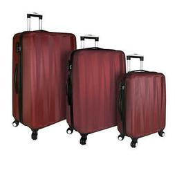 Spinner Luggage Set Plastic Fabric Suitcase Checked Bag Whee
