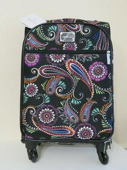 VERA BRADLEY SPINNER TRAVEL LUGGAGE SUITCASE 22 INCH NEW $32