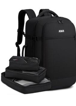 KAKA Travel Backpack with Packing Cubes - Carry On Flight Ap