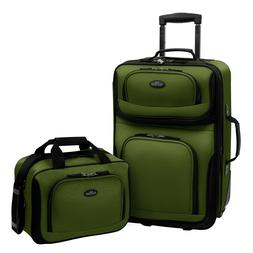 Travel Bags 21 Inch 2 Piece Carry On Luggage Set Soft Suitca