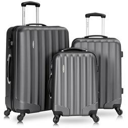 Travel Set Bag with Lock 3 Pcs Sleek Design Multi Swivel Whe
