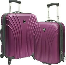 Traveler's Choice Cape Verde Purple 2pc Carry-on Expandable