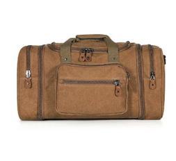 Plambag Unisex's Canvas Duffel Bag Oversized Travel Tote Lug