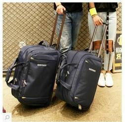 Unisex Travel Luggage Nylon Rolling On Wheels Business Troll