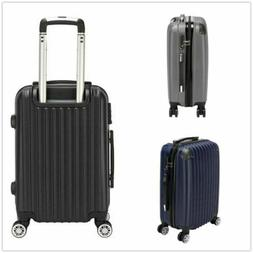 US 20 Inch Waterproof Carry On Spinner Luggage Travel Bag Tr