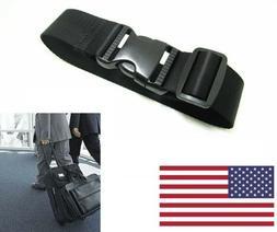 US Adjustable Travel Luggage Suitcase Safe Belt Strap Trolle